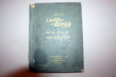 LAND ROVER PARTS CATALOGUE ULTRA RARE SERIES 1 DEALERSHIP MANUAL