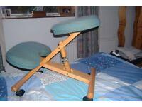Deluxe ergonomic kneeling chair
