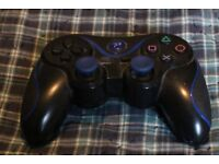 P3 PS3 Blue and Black Controllers