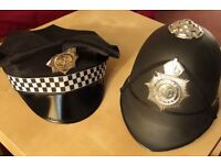 2 Fancy Dress Police Hats