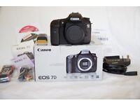 Canon 7D Body, in great condition, original box, complete
