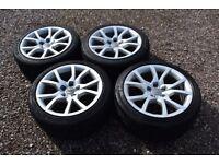 "Genuine 18"" Audi A5 S line Alloy Wheels 245/40R18 Tyres 8T0601025E Silver"