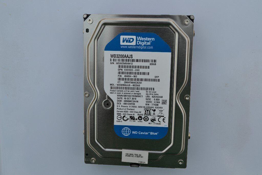 320GB SATA Internal Hard Drive