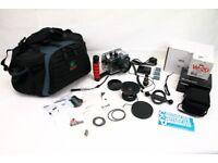 Ikelite 6146.07 Underwater Housing + Canon G7X Camera + Wide Angle Lens + Slave 4 Strobe + Kata Bag