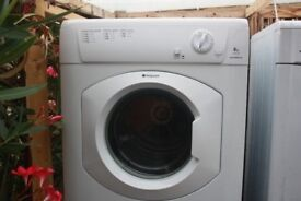 HOTPOINT 8KG VENTED TUMBLE DRYER IN GOOD CLEAN WORKING ORDER 3 MONTH WARRANTY & PAT TESTED