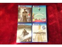 PS4 Games - Uncharted 4, No Man's Sky, Nathan Drake Collection and Shadow of Mordor