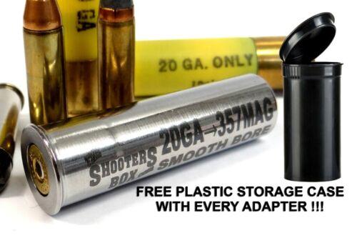 20GA to 357 Magnum Shotgun Adapter - Chamber Reducer - Stainless - Free Case !!!