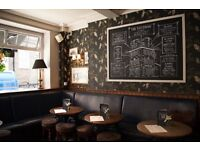 Enthusiastic bar back wanted for great Mayfair pub- join a great team with benefits!