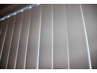 2 x sets of Vertical Blinds - Blackout - ex-Dunelm