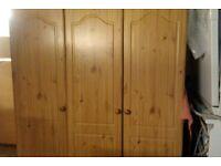 Pine effect triple wardrobe