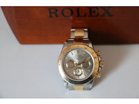 ROLEX Daytona Oyster Cosmograph Bi-Colour Rhodium 18ct Gold & Stainless Steel - All Links Included