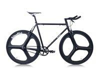 **Quella Stealth Bicycle - Black MK3 Three Spoke**