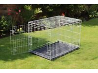 Galvanised Dog Cage in as new condition
