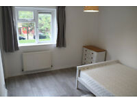 Newly refurbished double room with walk-in wardrobe