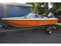 Fletcher Arrowflyte 16ft speed boat 40 hp
