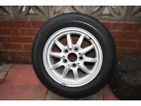 Bmw 320 / 116 alloy wheel with Bridgestone 205/60 15 tyre