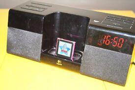 Logitech Pure-Fi Anytime iPod/iPhone Dock Alarm/radio with remote control+ ipod nano 6th gen. 8GB