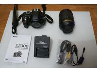 Nikon D3300 24 MP DSLR + 18-140 Telephoto Lens