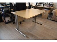 Cantilever office desk - 1200mm x 800mm