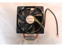 DESKTOP COMPUTER CPU HEATSINK AND FAN, AKASA NERO AK-967 FOR INTEL AND AMD PROCESSORS.