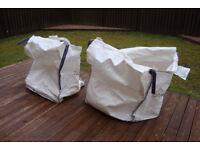 2 X BULK BAGS (EMPTY)