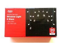 Window Light Stars / 20 x Warm LED Fairy Lights