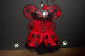 TK Maxx Girls Ladybug Fairy Costume Size 2-3 Years