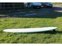 """single fin traditional slide 65 longboard surfboard 9' 6"""" mint condition"""