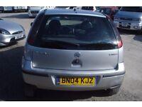Vauxhall Corsa Life 2004-04-reg,74,000 miles, 998cc, petrol new MOT, group 1 insurance