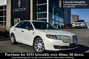 2012 Lincoln MKZ LEATHER - REVERSE SENSING SYSTEM - HEATED/COOLE