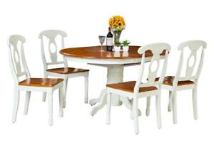Valleyview Five Piece Dining Set In Oak And White