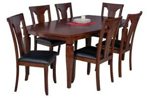 Victoria Boat Shape Solid Wood Dining Table In Espresso