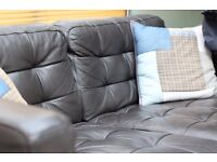 IKEA 2 seater real leather sofa (LANDSKRONA)