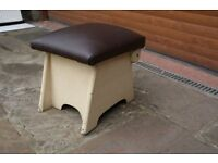 Upholstery project Wooden storage with padded lid 1950s