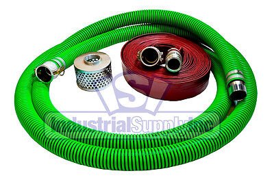 3 Epdm Mud Suction Hose Kit W100 Red Discharge Camlock Hose Fs