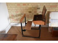 Old School Victorian Desk with Connected Chair.