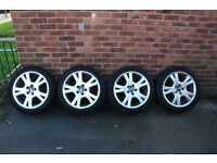 Volvo Alloys R17 5*108 with tires 225/45/17