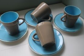 Palissy tea/coffee cups and saucers