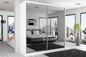 ORDER = NOW FULLY MIRRORED TWO DOOR SLIDING DOOR WARDROBE BRAND NEW WE DO SAME OR NEXT DAY DELIVERY