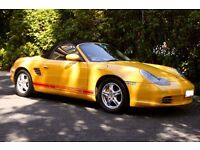 Facelift Porsche Boxster inSpeed Yellow with full service history beautiful condition