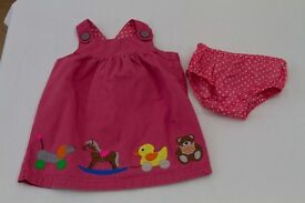 As good as new Boden dress and frilly pants, 12 – 18 months