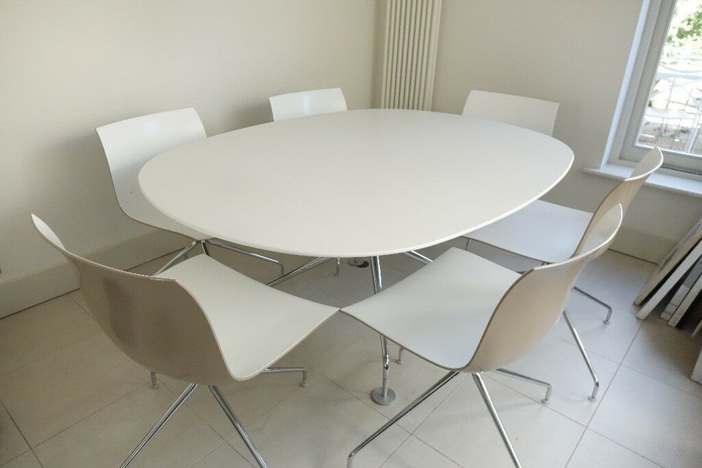 Dining Room Chairs Heals heals big white oval dining table and chairs | in dalston, london