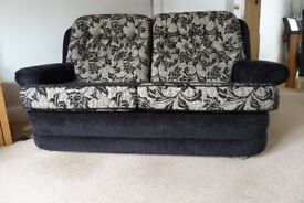 2 Sofa's with Pouffe