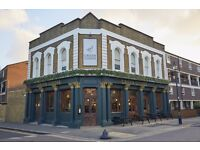 Bar and Waiting Staff Required for Trendy East End Pub.