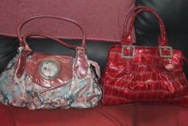 2 large ladies handbags