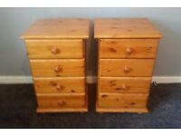 2 bedside set ov drawers