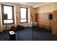 Music Rehearsal Space for Rent