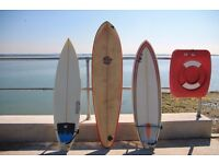 3x Surfboards for Sale 6ft Quad / 6ft Tri & 7ft 1970s Retro Board