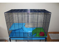 Rodent cage with accesories Savic Freddy 3 used but in excellent condition.