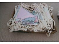 Bunting various lengths from £10(or 149m in total), suitable for wedding or party